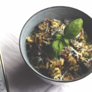 pasta med spinat