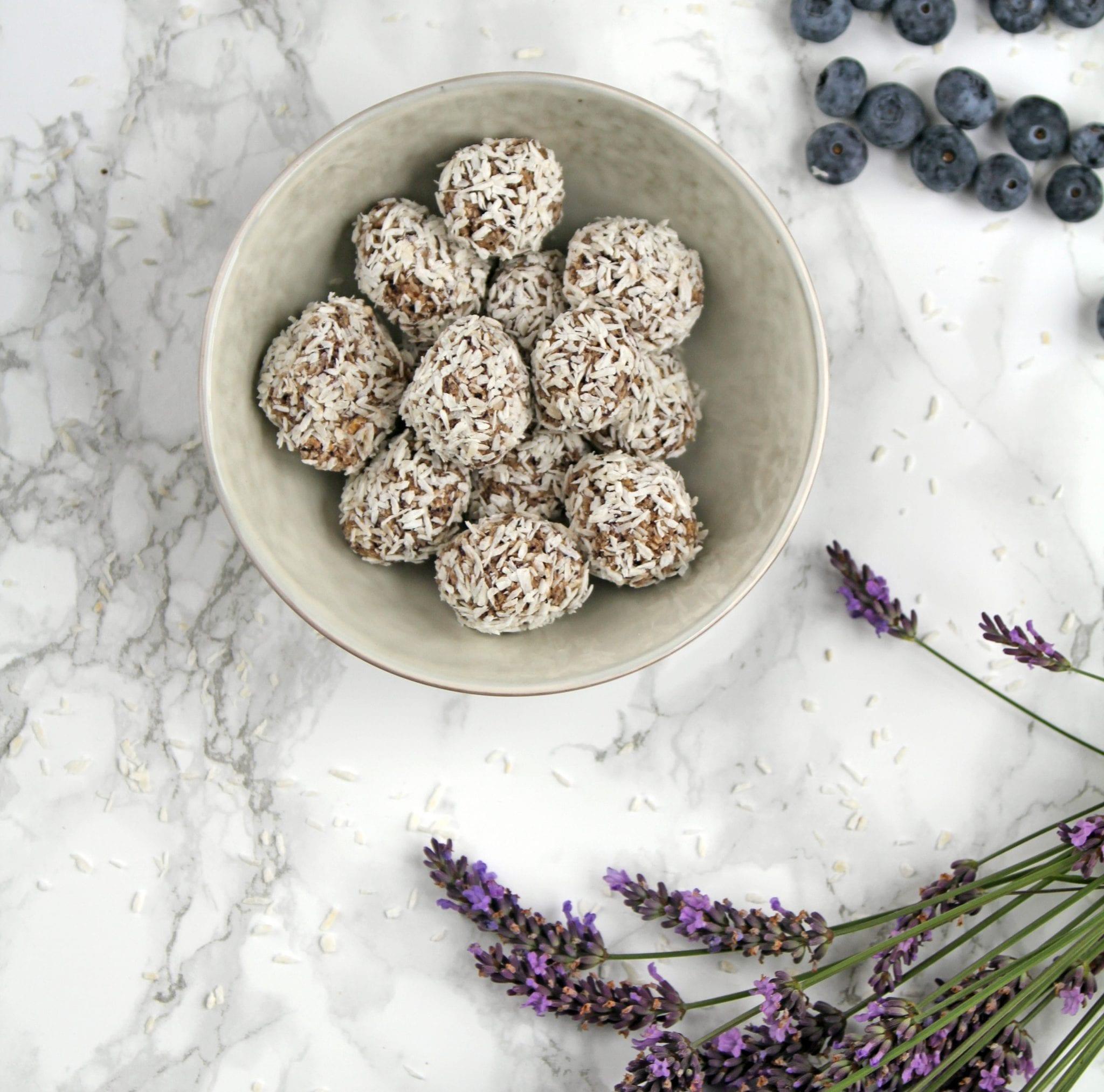 blåbær kugler en god snack