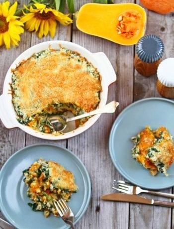 efterår lasagne - græskar