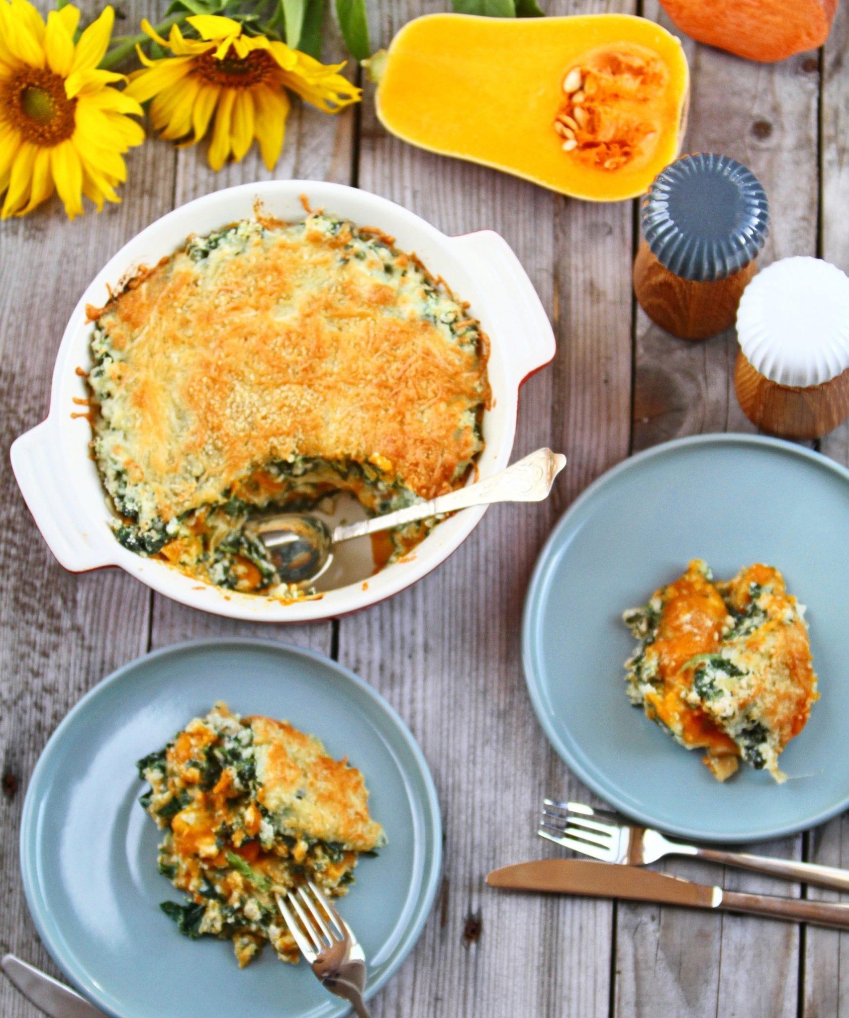 efterårslasagne Lasagne med græskar - den næstbedste lasagne der findes.