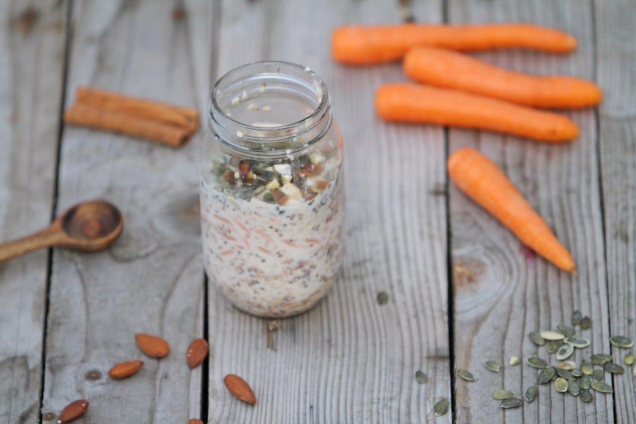 Overnight oats - Gulerodskage