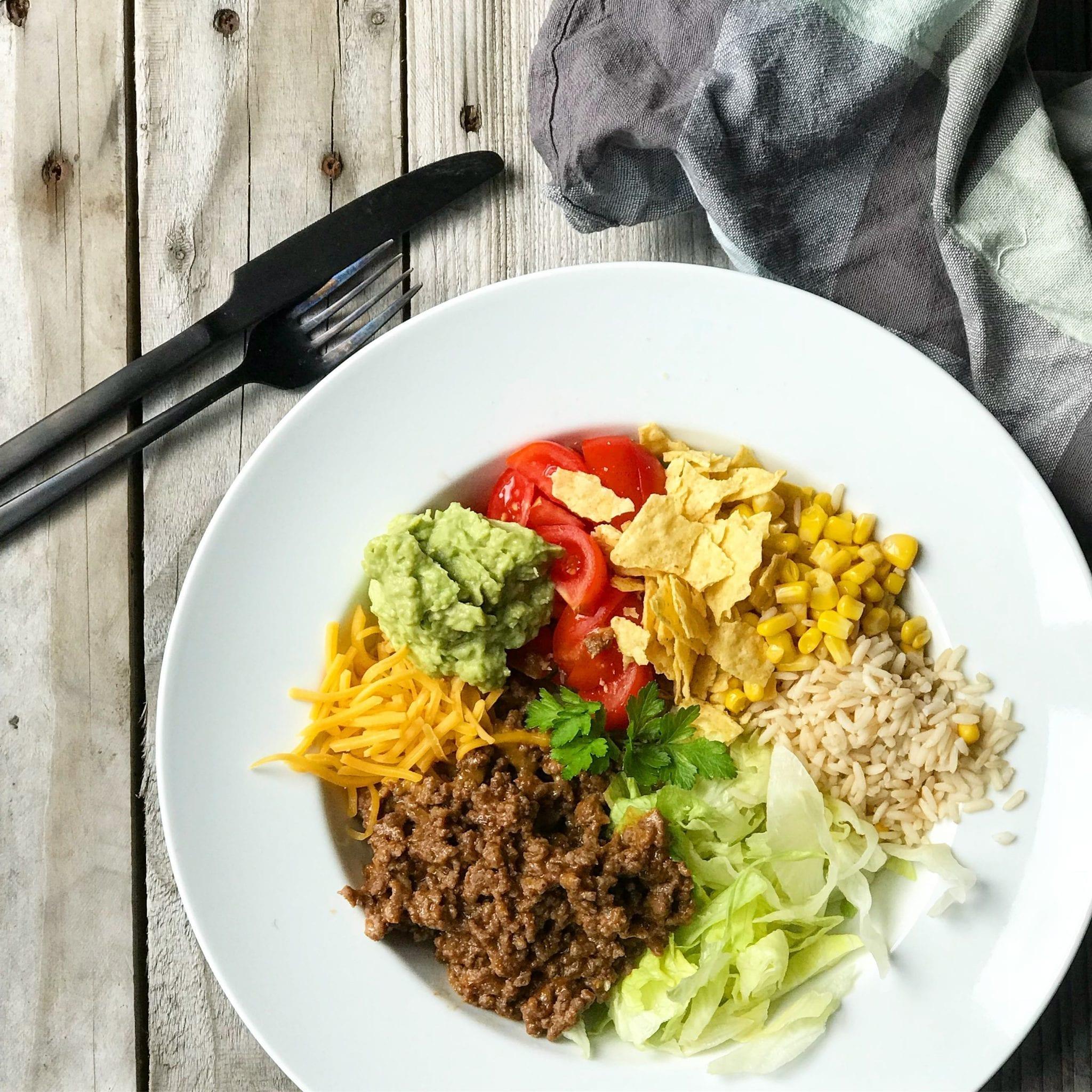 tacosalat Taco salat - den bedste salat hvis du elsker wraps
