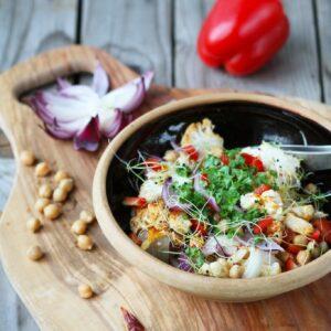 varm blomkåls salat