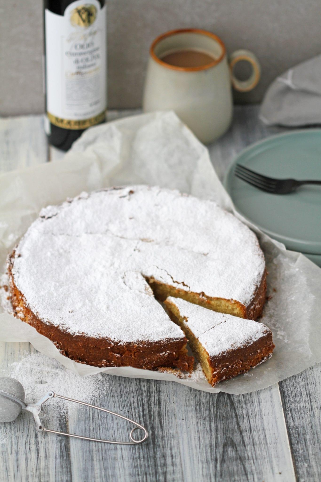 Oliven olie kage - den er den perfekte blanding af salt og sødt.