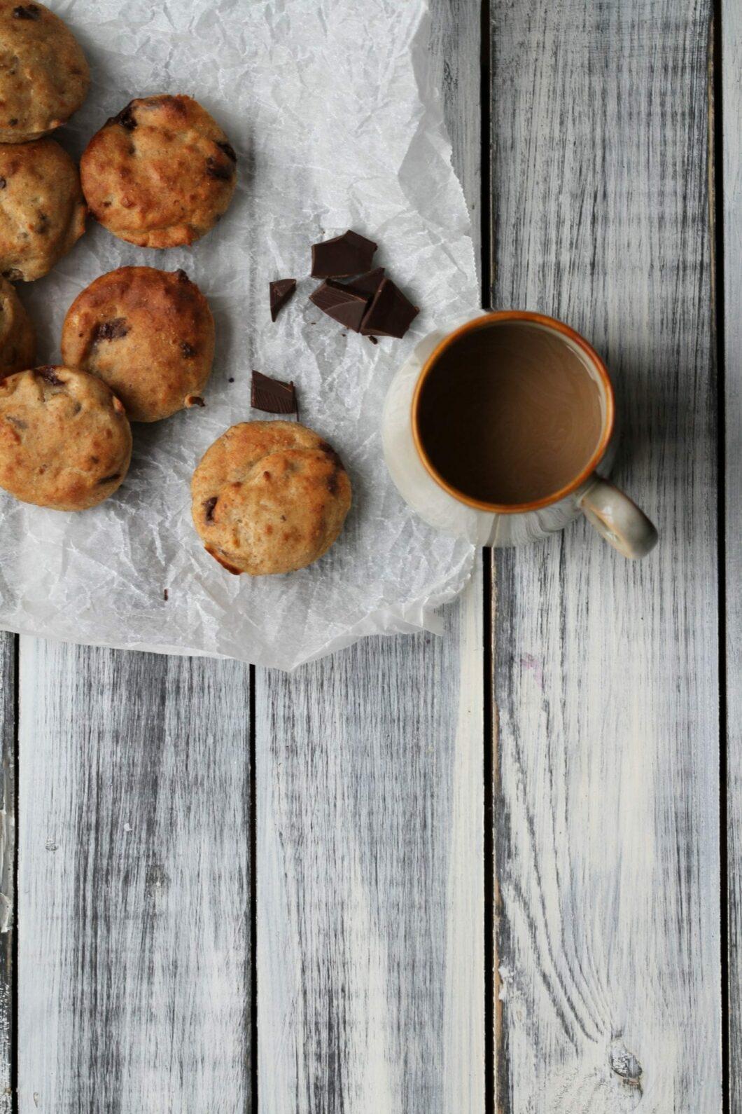 banan og chokolade muffins