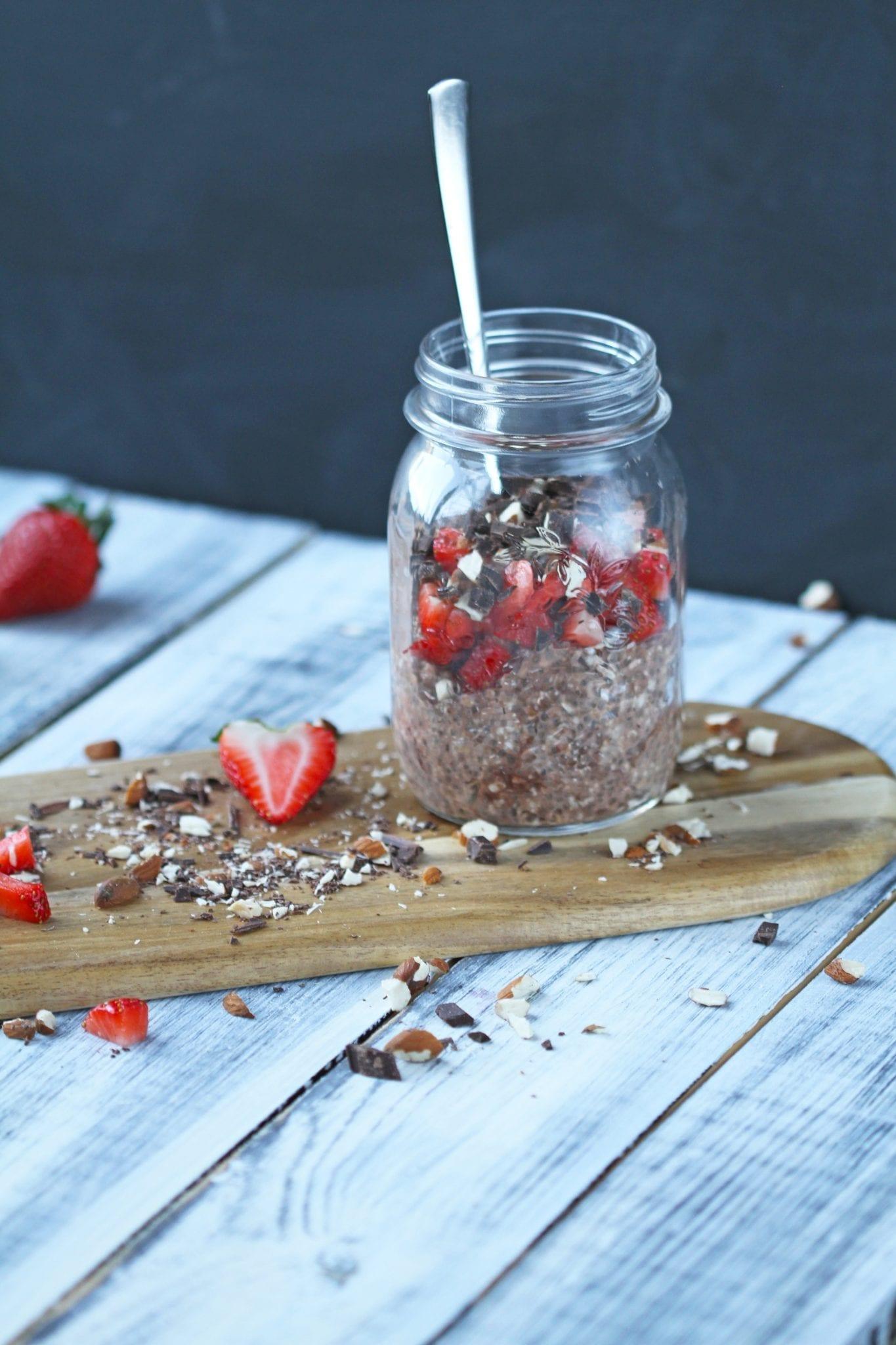 IMG 2658 Overnight oats med kakao og peanut butter
