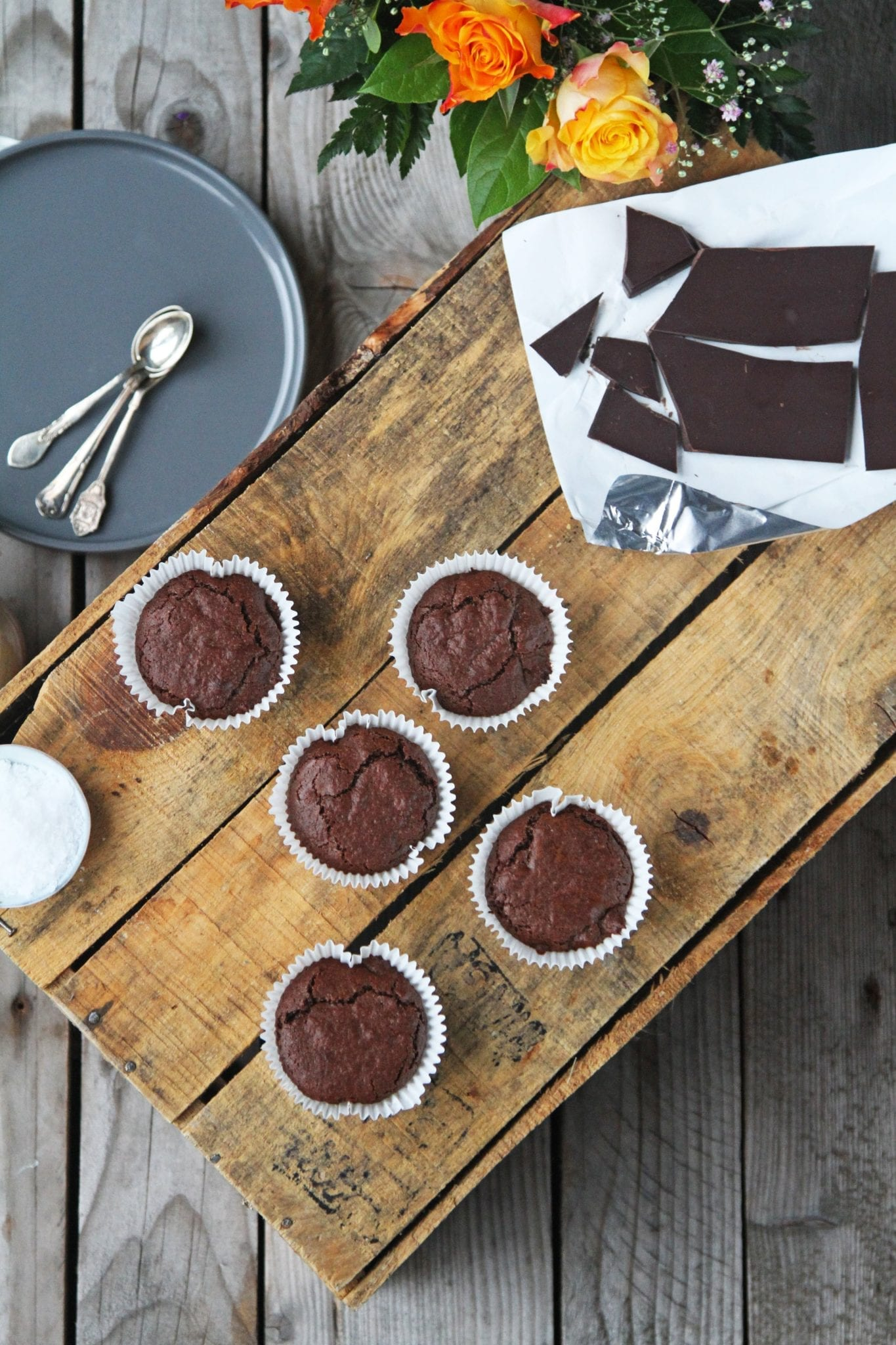 IMG 2517 Brownie muffins - chokolade himmel