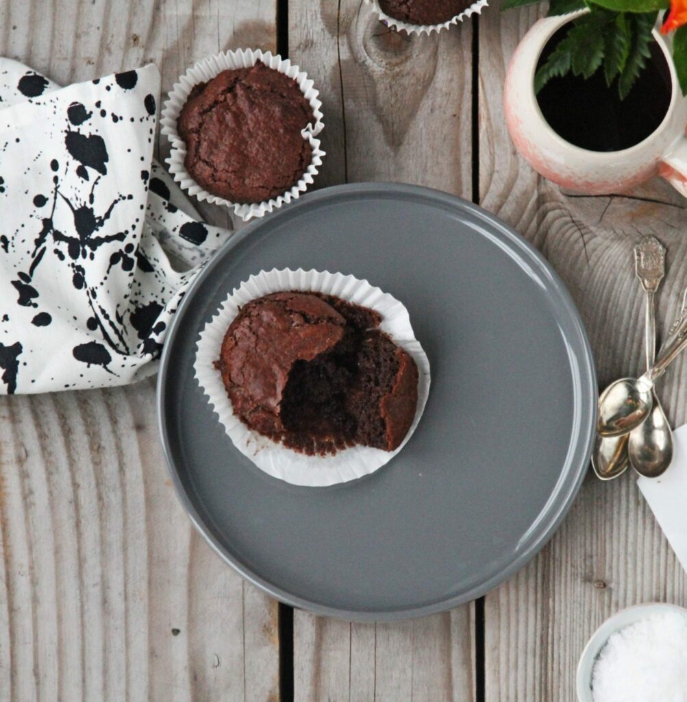 IMG 2518 Brownie muffins - chokolade himmel