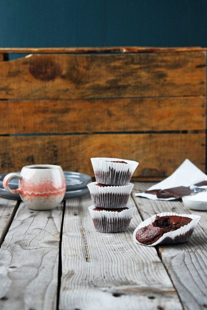 IMG 2538 Brownie muffins - chokolade himmel