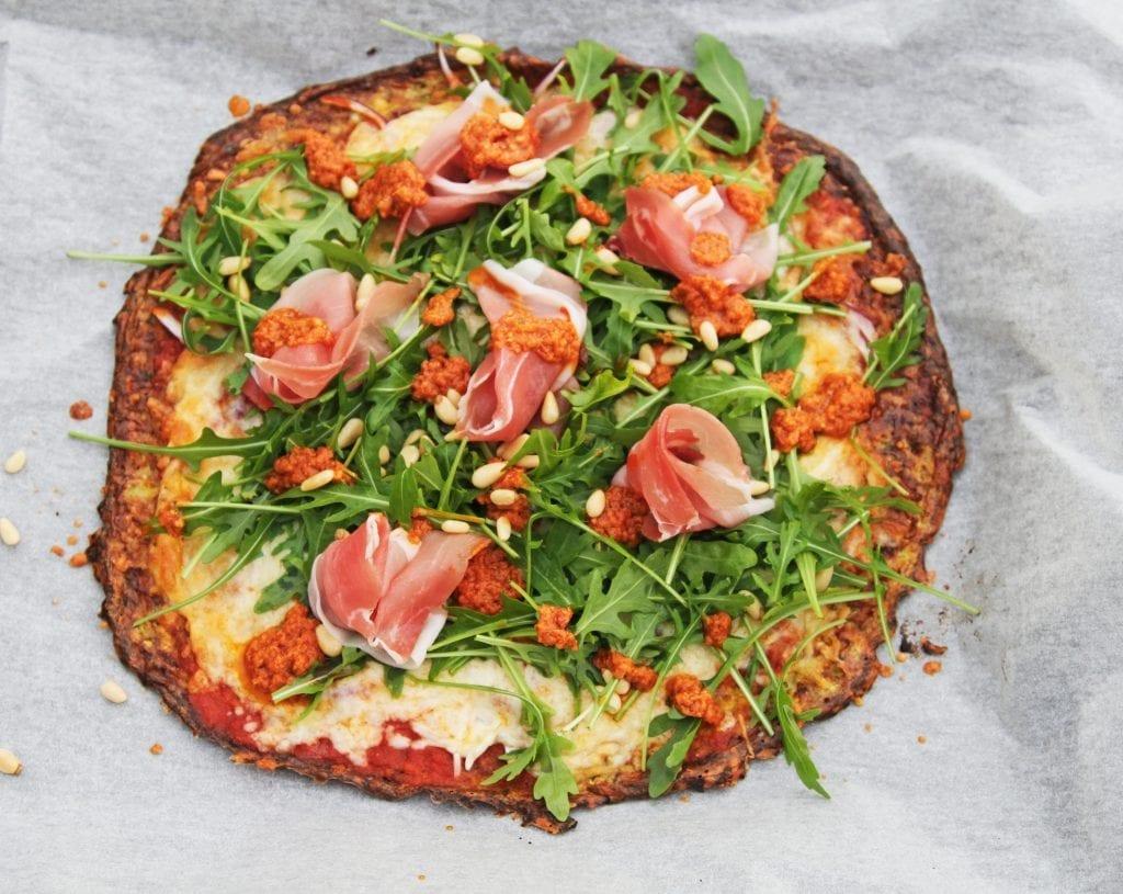 squash pizzabund, keto, gluten fri, lchf