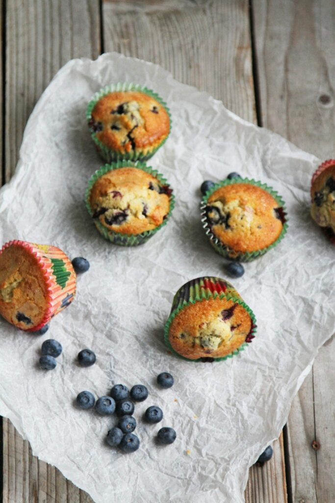 blåbærmuffins - hjemmebagte muffins