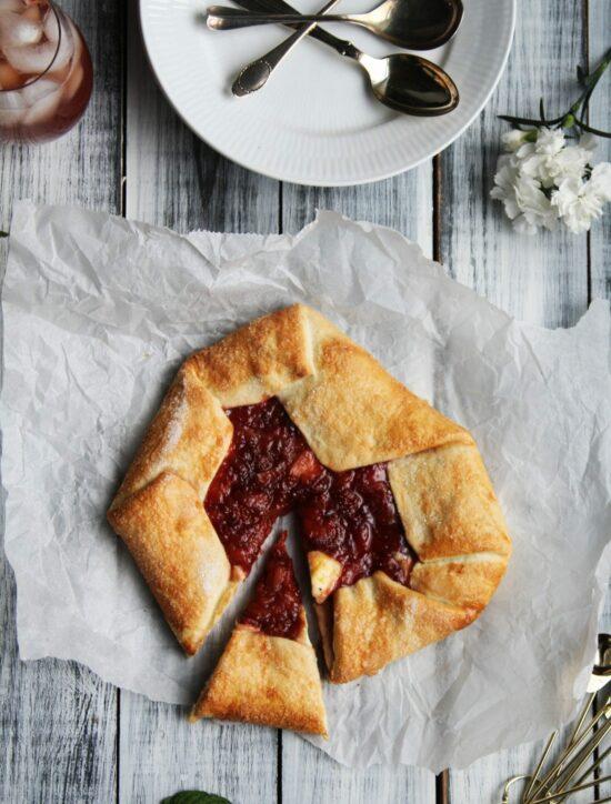 Jordbær og balsamico galette
