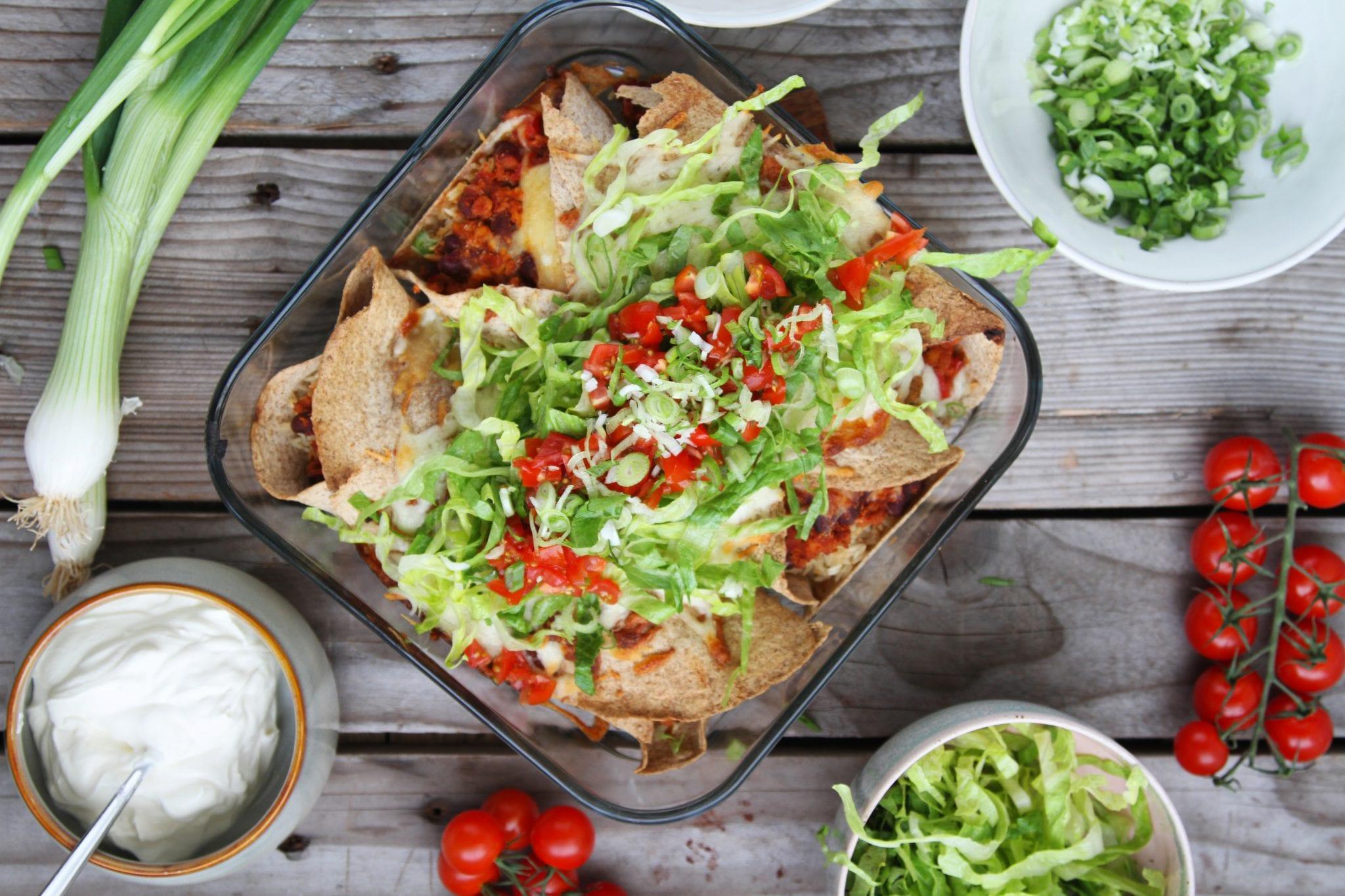 Lækre enchiladas med kylling