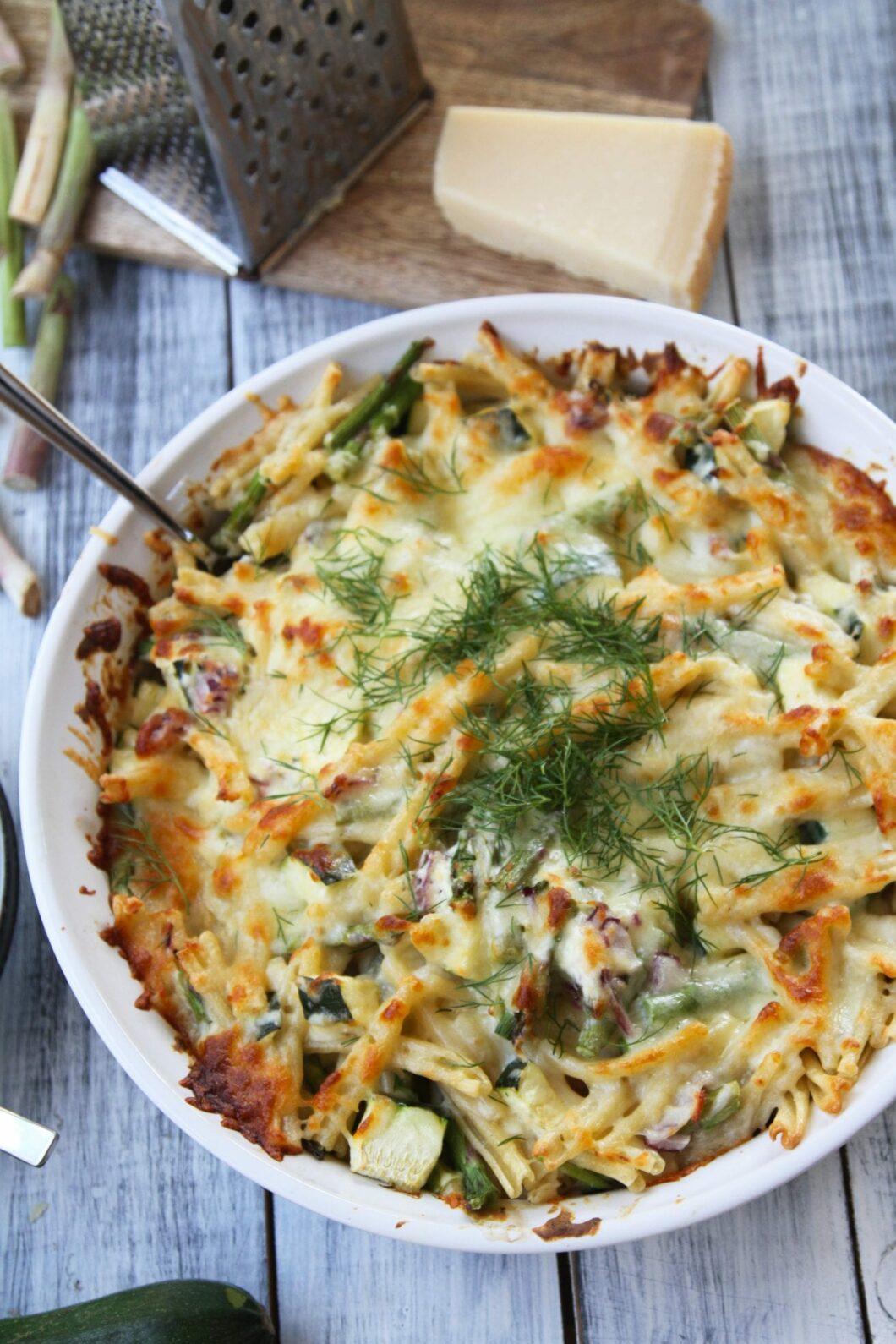 pastafad med grøntsager