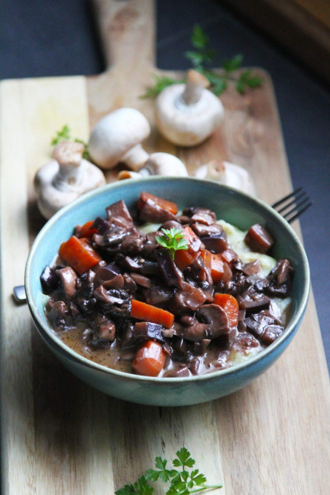 svampe bourguignon - vegetar