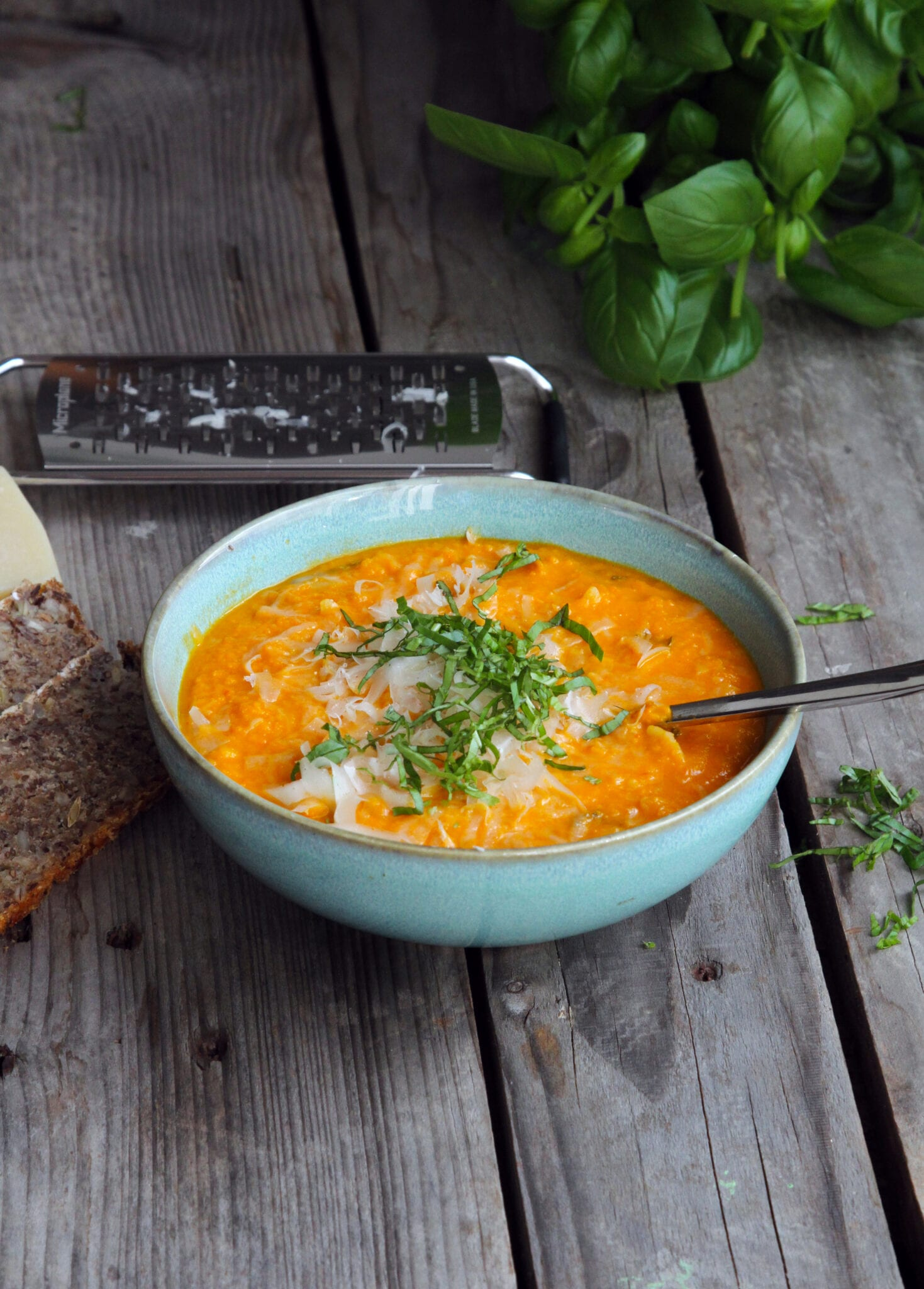 graeskar suppe scaled Græskar og sød kartoffel 🍠 suppe med orzo pasta