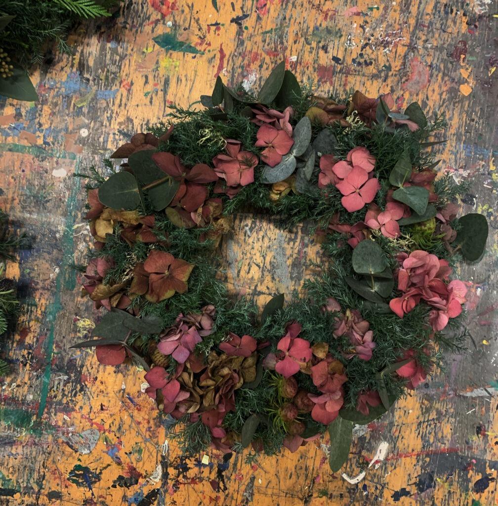 hortensia krans Juledekorationer 2020 - Adventskrans