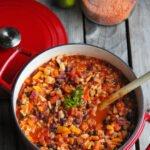 hjemmelavet vegetar chili - chili sin carne
